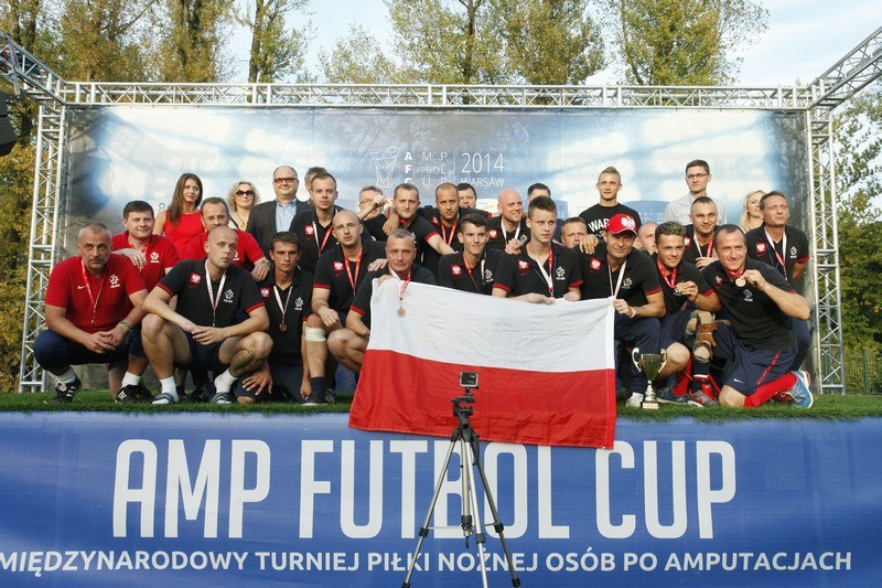 Polacy na podium Amp Futbol Cup 2014, Fot Grzegorz Press /Informacja prasowa