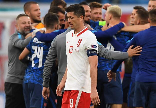 Polacy przegrali ze Słowacją 1:2 /KIRILL KUDRYAVTSEV / POOL / AFP  /PAP/EPA