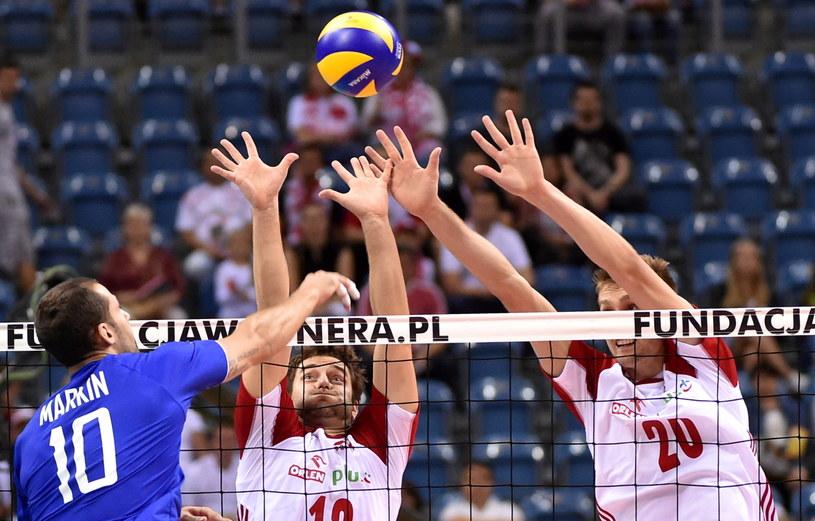 Polacy przegrywali z Rosjanami już 0:2, a mimo to wygrali spotkanie /fot. Jacek Bednarczyk /PAP