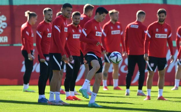 Polacy przygotowują się do eliminacyjnego meczu mistrzostw świata z Albanią /Piotr Nowak /PAP
