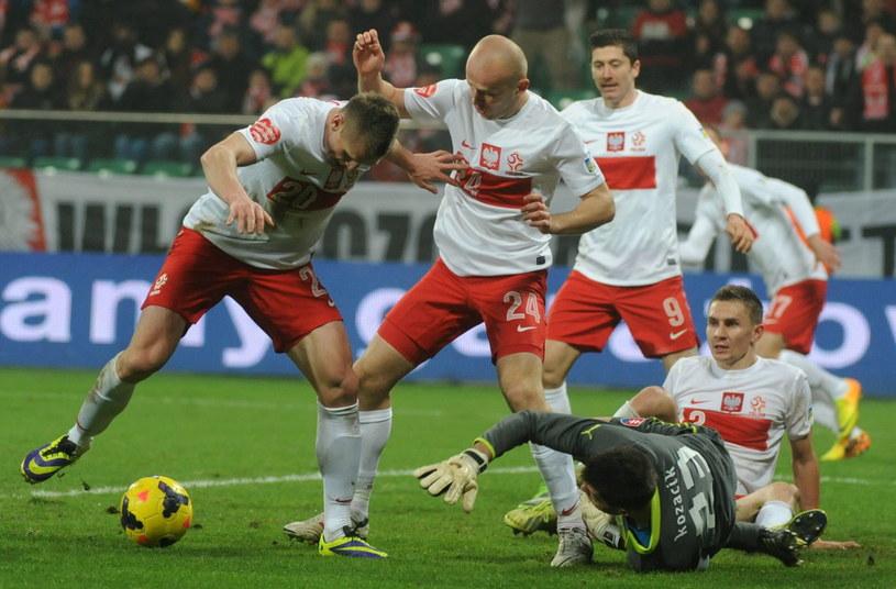 Polacy zaprezentowali się słabo w meczu towarzyskim ze Słowacją /Fot. Bartłomiej Zborowski /PAP