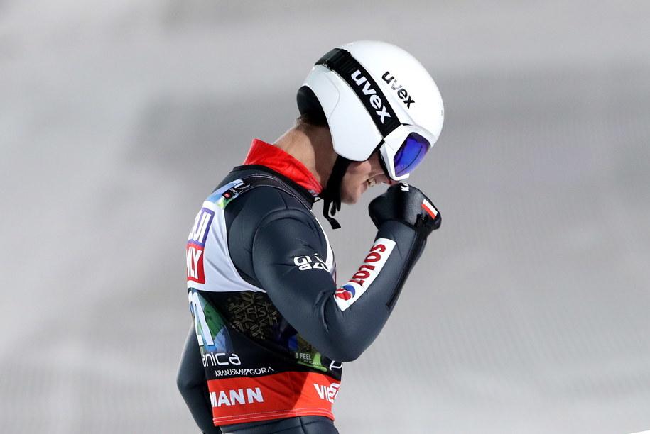 Polak Andrzej Stękała w 4. serii konkursu indywidualnego podczas mistrzostw świata w lotach narciarskich / Grzegorz Momot    /PAP