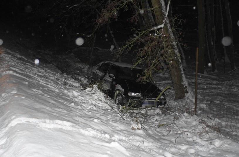 Polak rozbił samochód w Czechach. Po wypadku groził siekierą osobom, które przyszły mu z pomocą /materiały prasowe