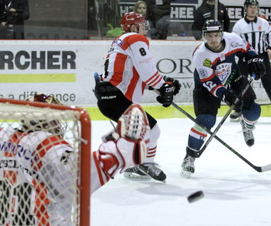 Półfinał PHL - 1. mecz. Comarch/Cracovia - Ciarko PBS Bank STS Sanok 7-5