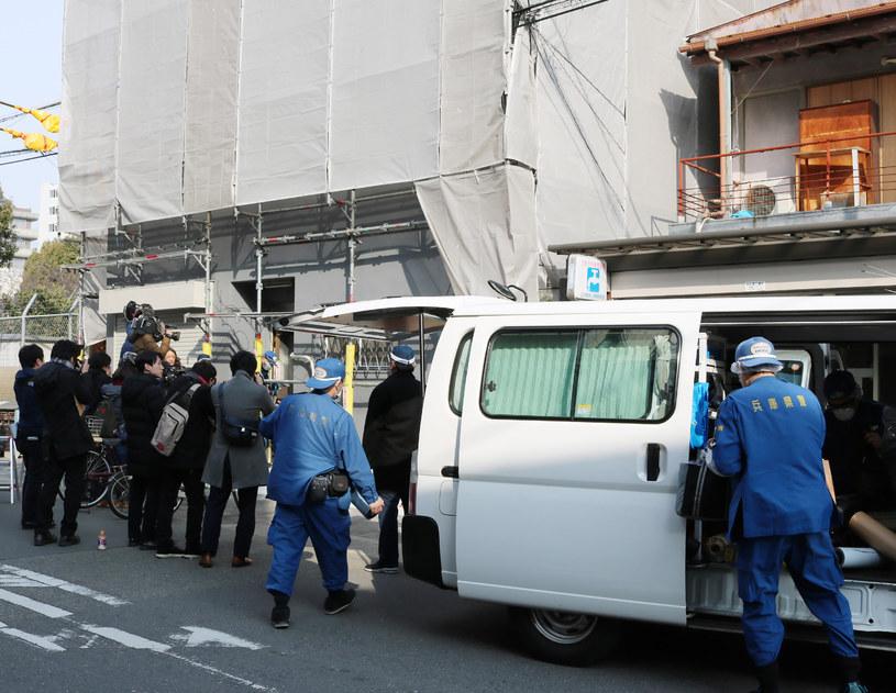 Policja i śledczy na miejscu makabrycznego odkrycia w Osace /JIJI PRESS /AFP
