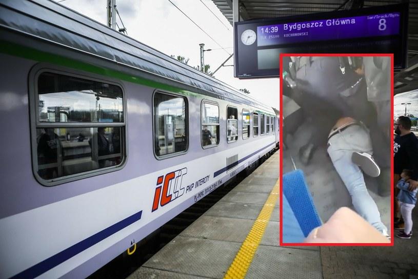 Policja i SOK unieruchomiły pasażera, który nie chciał założyć maseczki. Przebieg interwencji wzbudził kontrowersje /Adam Burakowski /Reporter
