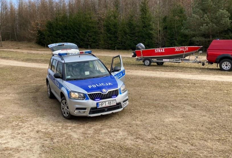 Policja i straż pożarna na miejscu zdarzenia /Policja