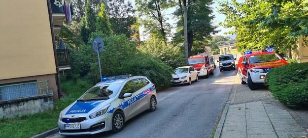 Policja i straż pożarna przyjechały na miejsce zdarzenia we wtorek ok. godz. 10 /Mamnewsa.pl /