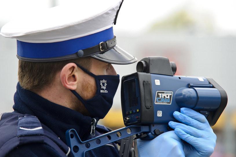 Policja na drogach /Stanisław Bielski /Reporter