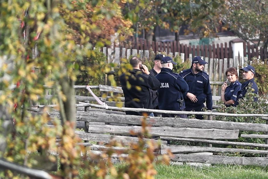 Policja na miejscu eksplozji /Grzegorz Mamot /PAP