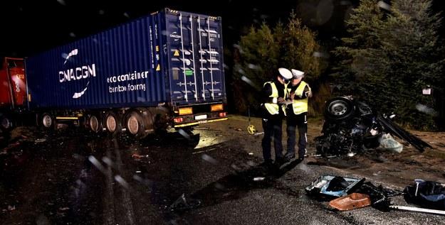 Policja na miejscu wypadku /pomorska.policja.gov.pl /