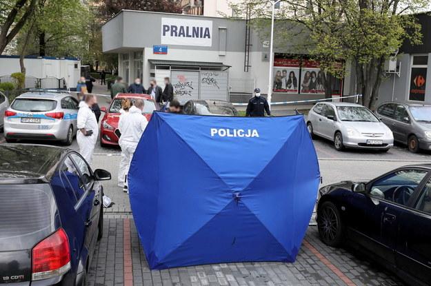 Policja na miejscu zbrodni /Paweł Supernak /PAP