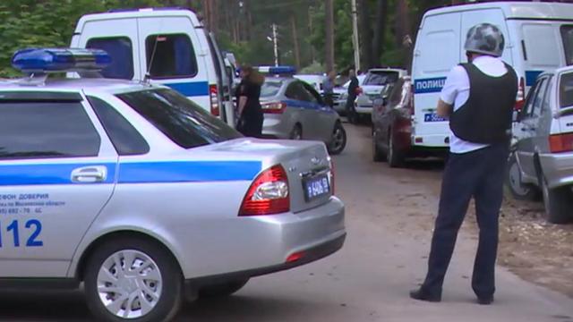 Policja na miejscu zdarzenia /ren.tv/RMF FM /Zrzut ekranu