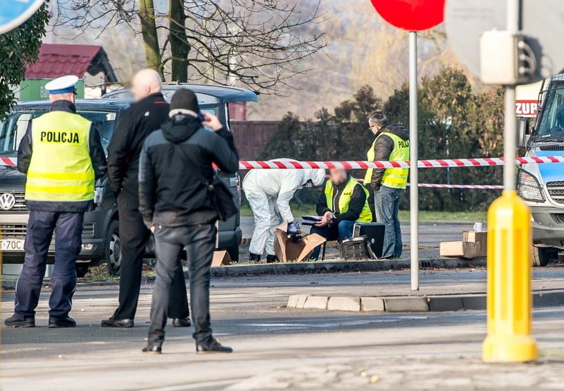 Policja na miejscu zdarzenia /Maciej Kulczyński /PAP