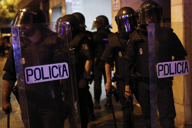 Policja na ulicach Barcelony /PAU BARRENA  /AFP