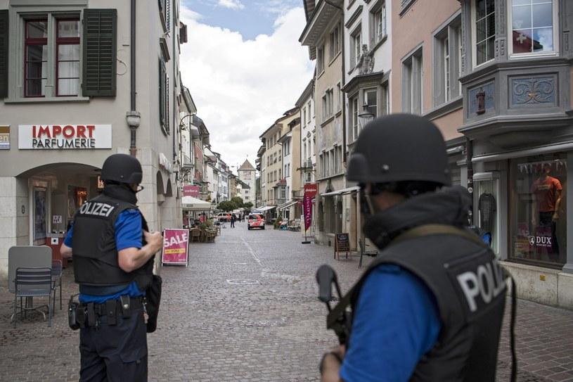 Policja na ulicach Schaffhausen /PAP/EPA