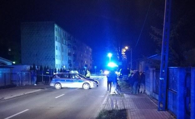 Policja odgrodziła miejsce strzelaniny /Gorąca Linia RMF FM