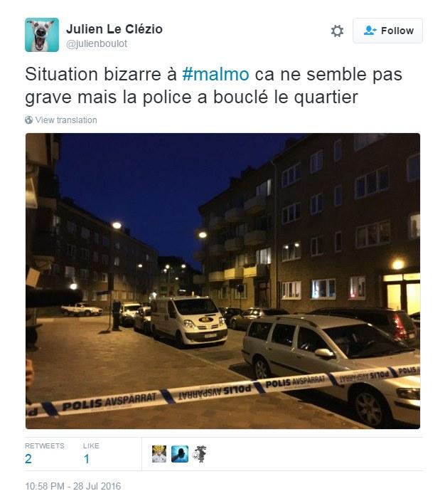 Policja ogrodziła teren eksplozji /Twitter