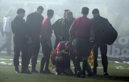 Policja pojmała uczestników burd na stadionie GKS /Agencja Przegląd Sportowy