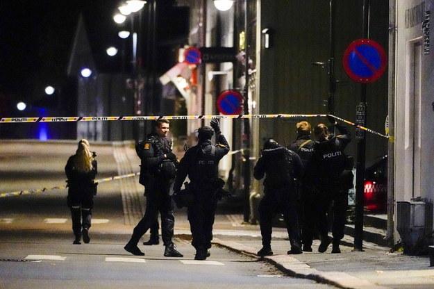 Policja prowadzi oględziny /HAKON MOSVOLD LARSEN NORWAY OUT /PAP/EPA