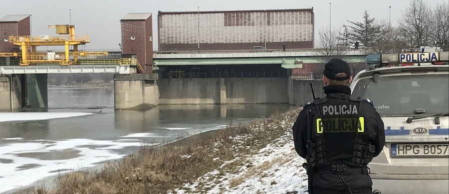Policja przy stopniu Dąbie w Krakowie /RMF FM