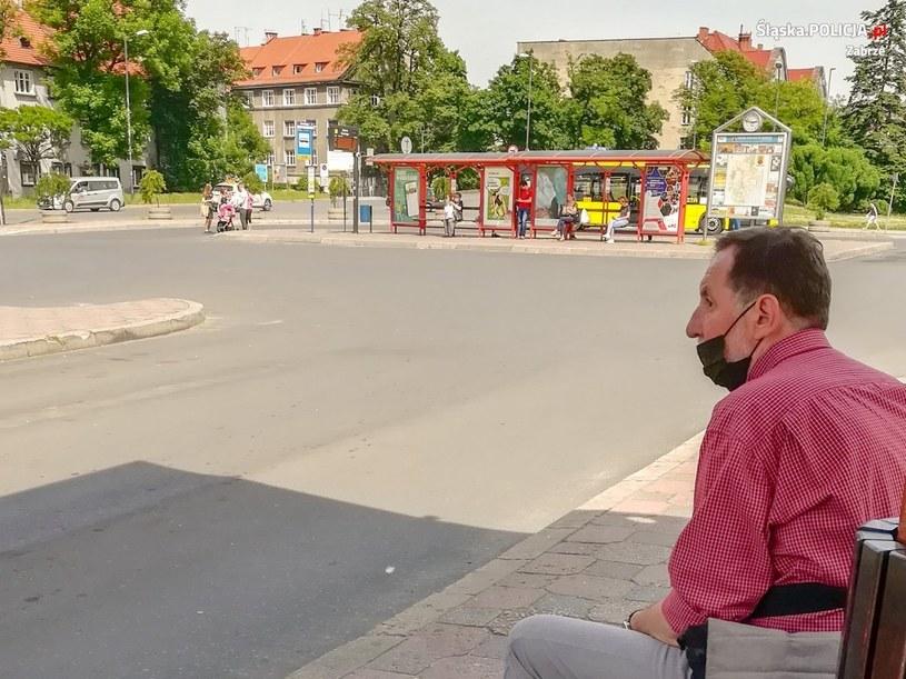 Policja szuka mężczyzny ze zdjęcia (Źródło: KMP w Zabrzu) /Policja