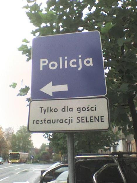 Policja tylko dla gości!