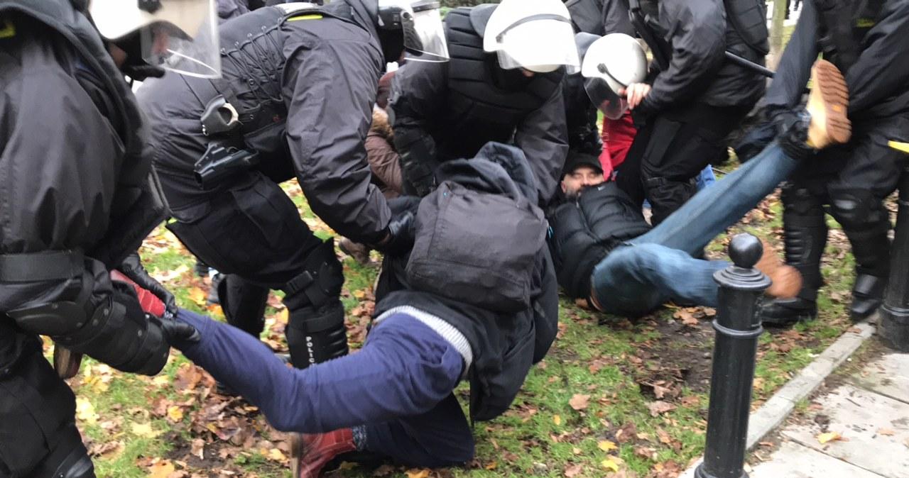 Policja usunęła kontrmanifestację Obywateli RP w stolicy