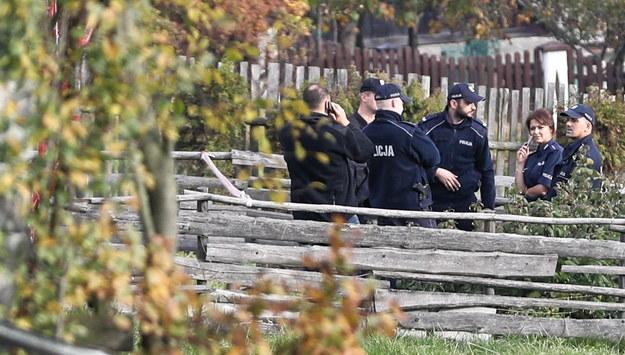 Policja w Bańskiej Niżnej / Grzegorz Momot    /PAP