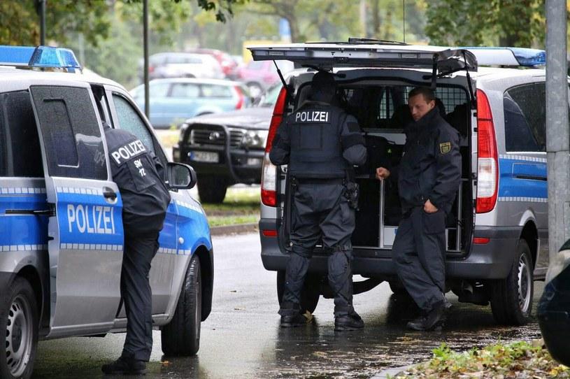 Policja w Chemnitz /PAP/EPA