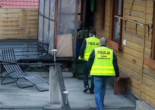 Policja w domu znachora Marka Haslika /Grzegorz Momot  (PAP) /PAP