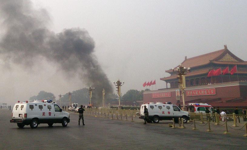 Policja w Pekinie poszukuje dwójki Ujgurów w związku z wczorajszym wypadkiem /AFP