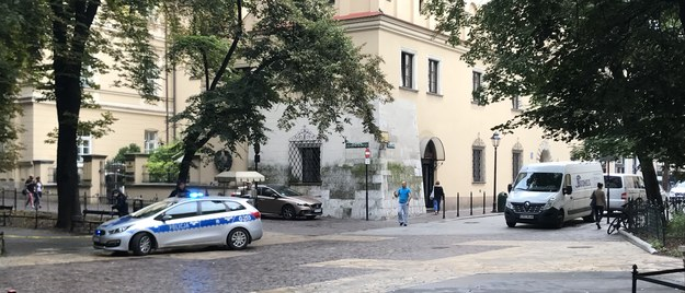 Policja w pobliżu miejsca zdarzenia /Marek Wiosło /RMF FM
