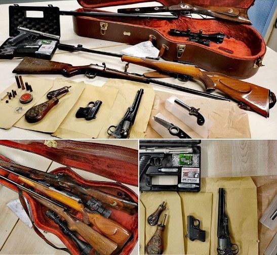 Policja z Kolonii odkryła arsenał ukryty w futerale na gitarę /Facebook.com/Polizei NRW Köln /