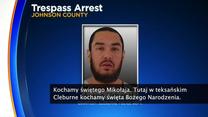 Policja z Teksasu aresztowała mężczyznę. Krzyczał, że św. Mikołaj nie istnieje
