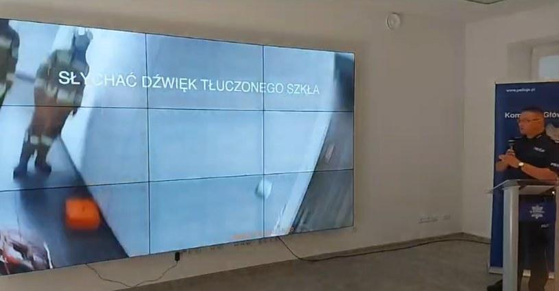 Policja zaprezentowała materiał z interwencji w sprawie Łukasza Ł. /Policja /facebook.com