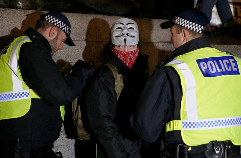 Policja zatrzymała 47 osób /PETER NICHOLLS /Agencja FORUM