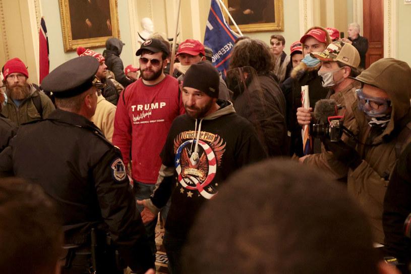Policja zawiodła w czasie środowej sesji Kongresu /Win McNamee /Getty Images
