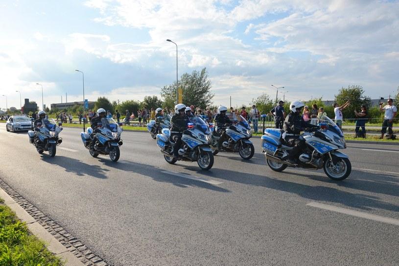 Policjanci Motocyklowej Asysty Honorowej /Przemysław Fiszer /East News
