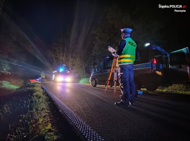 Policjanci na miejscu wypadku /Policja Śląska /