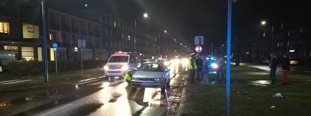 Policjanci na miejscu zdarzenia /112Tychy.pl /