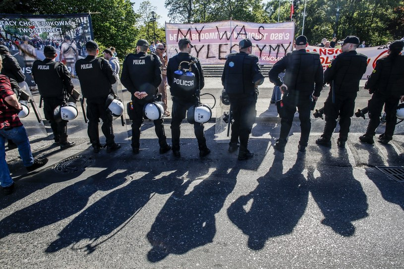 Policjanci ochraniający marsz równości w Trójmieście; Zdj. Ilustracyjne /Karolina Misztal /Reporter