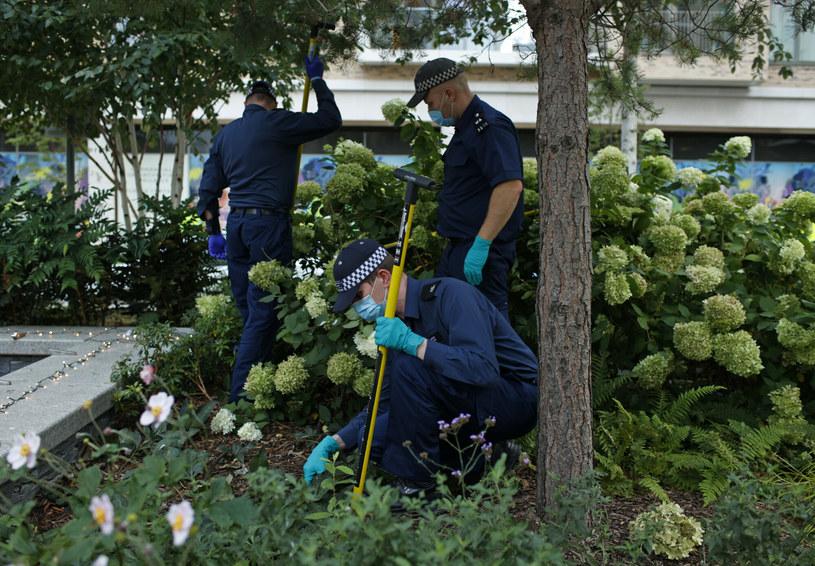 Policjanci podczas śledztwa w sprawie zabójstwa Sabiny Nessy /AP/Associated Press /East News