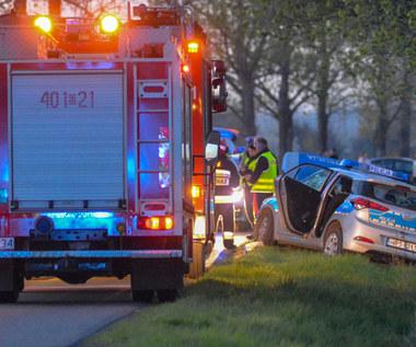 Policjanci próbowali zatrzymać pijanego kierowcę. Doszło do wypadku
