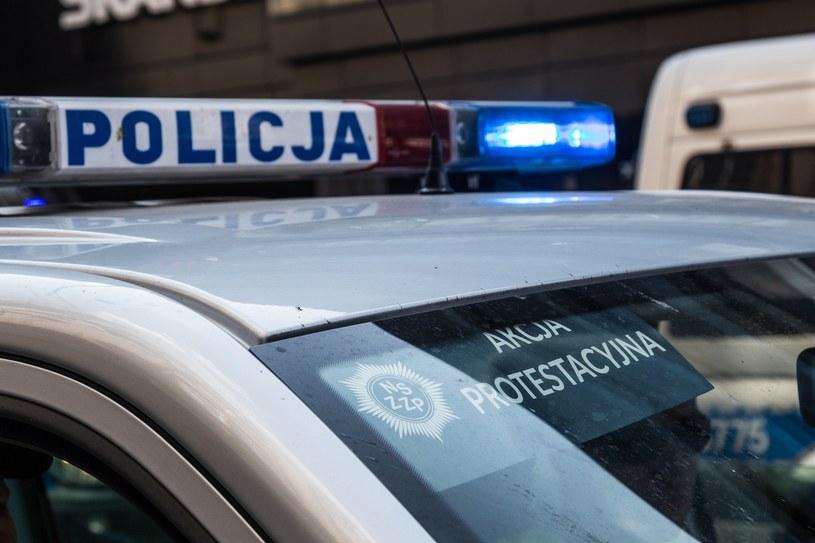 Policjanci protestują /Krzysztof Kaniewski /Reporter
