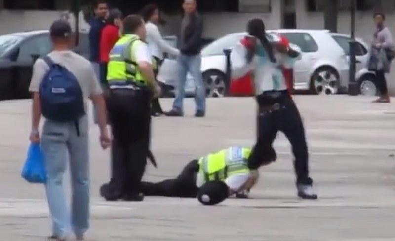 Policjanci się nie popisali /Polski Patriota /YouTube