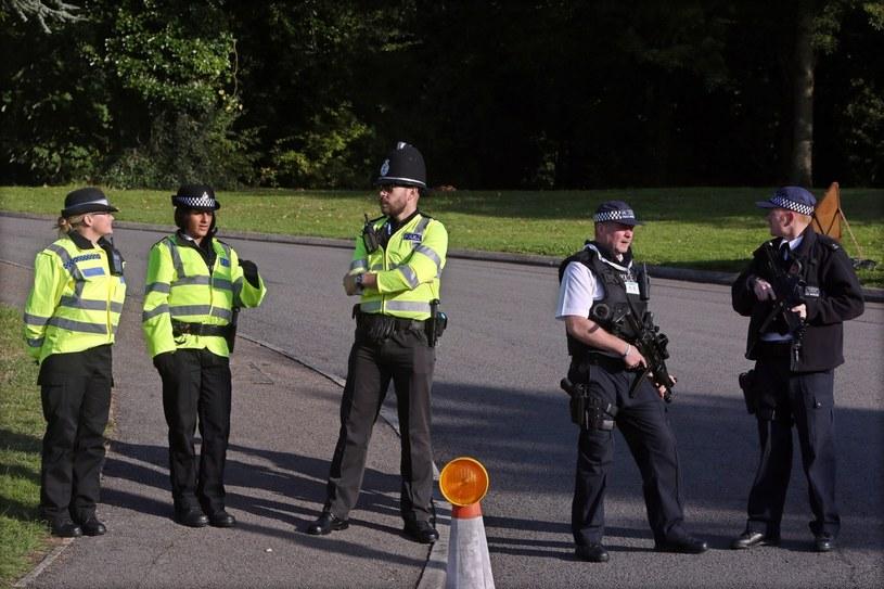 Policjanci w Newport /PAP/EPA