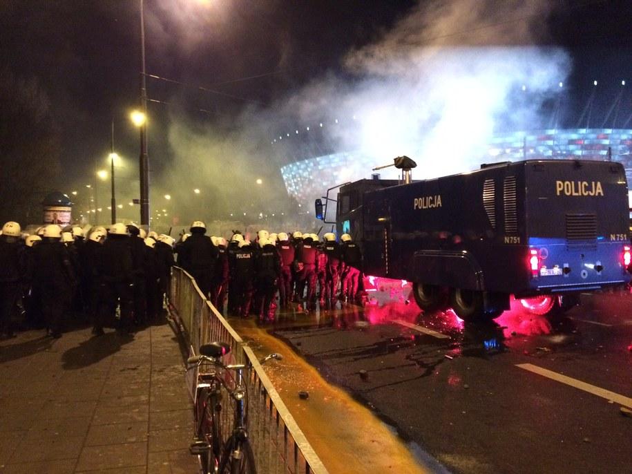 Policjanci w okolicy Stadionu Narodowego /Tomasz Skory  /RMF FM