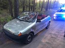Policjanci zatrzymali Seicento przerobione na kabriolet