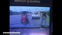 Policjant miał ogromne szczęście. Piorun uderzył tuż obok jego stóp